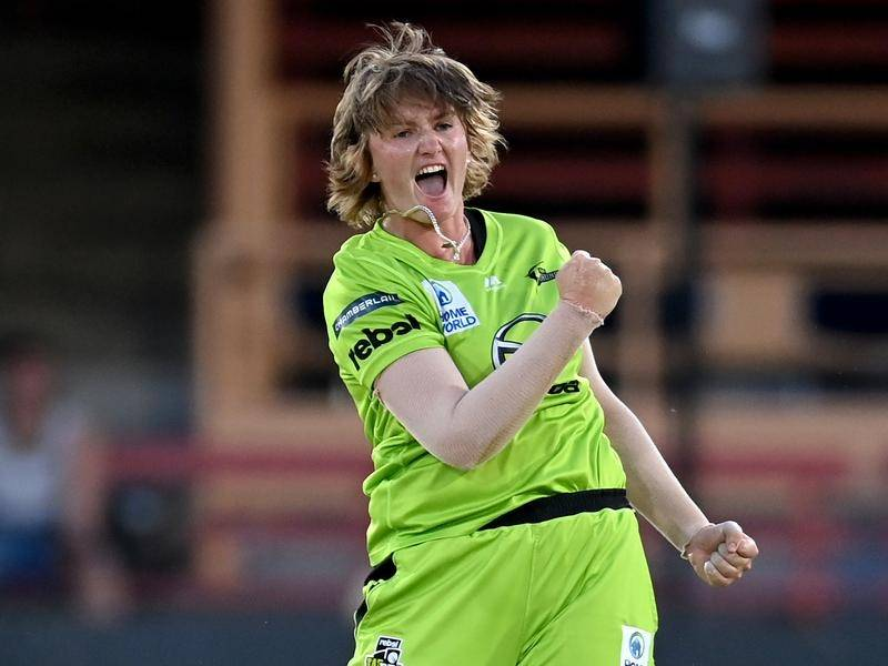 Sammy-Jo Johnson, of the Thunder, is the first cricketer ever to win three straight Big Bash titles.