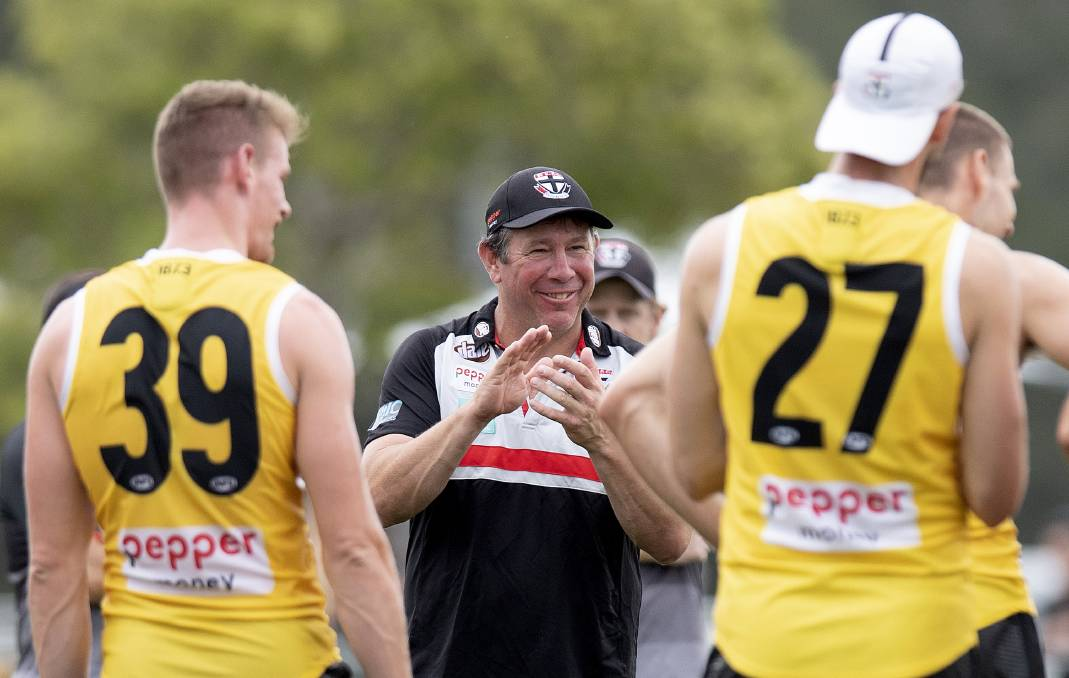 Becoming only the second man in St Kilda's history to coach a premiership team would be the crowning glory on a glittering career for Brett Ratten. Photo: Bradley Kanaris/Getty Images